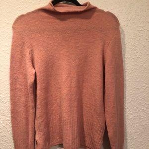 Madewell pink mock neck sweater sz M
